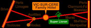 Accès Vic-Sur-Cère
